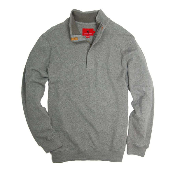 Leland Pullover in Flint Grey by Southern Proper