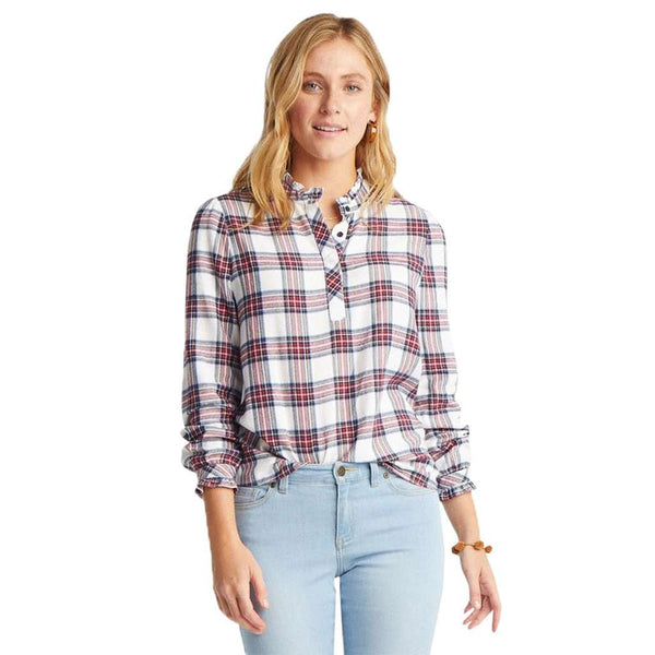 Southern Tide Leslie Wintertime Plaid Top by Southern Tide