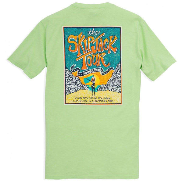 The Skipjack Tour Tee-Shirt in Lime Green by Southern Tide  - 1