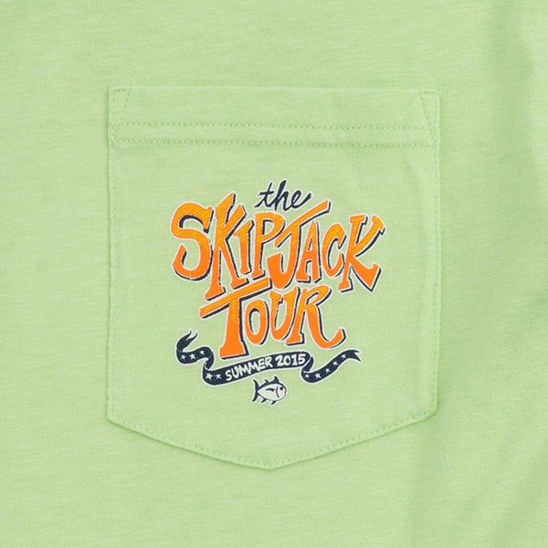 The Skipjack Tour Tee-Shirt in Lime Green by Southern Tide