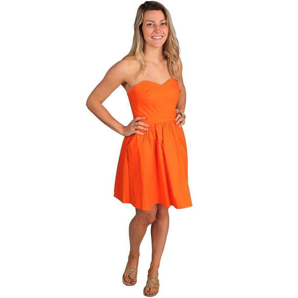 The Savannah Dress in Orange by Lauren James  - 3