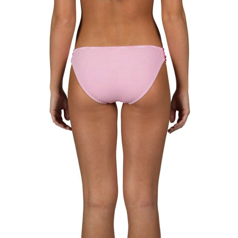 Pink Seersucker Bandeau Bikini Bottom by Lauren James - FINAL SALE