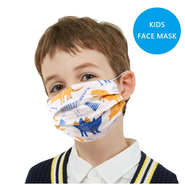 Kids' Dinosaurs Cotton Mask by Queen Designs