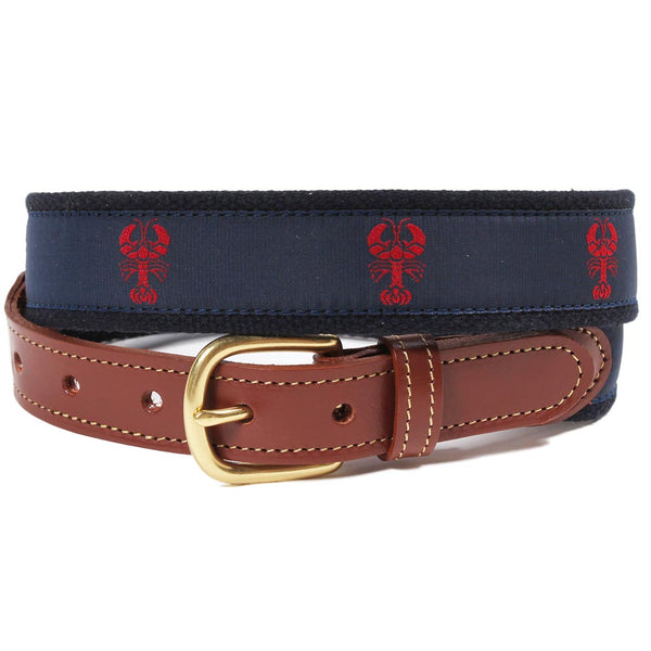 Red Lobster Leather Tab Belt by Country Club Prep