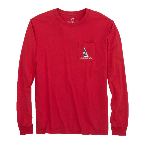 Southern Tide Long Sleeve Ready, Set, Sail T-Shirt by Southern Tide