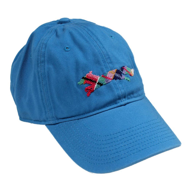 "Country Club Prep ""Longshanks"" Needlepoint Hat in Royal Blue by Smathers & Branson"