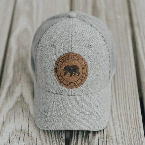 The Normal Brand Leather Patch Trucker Cap by The Normal Brand