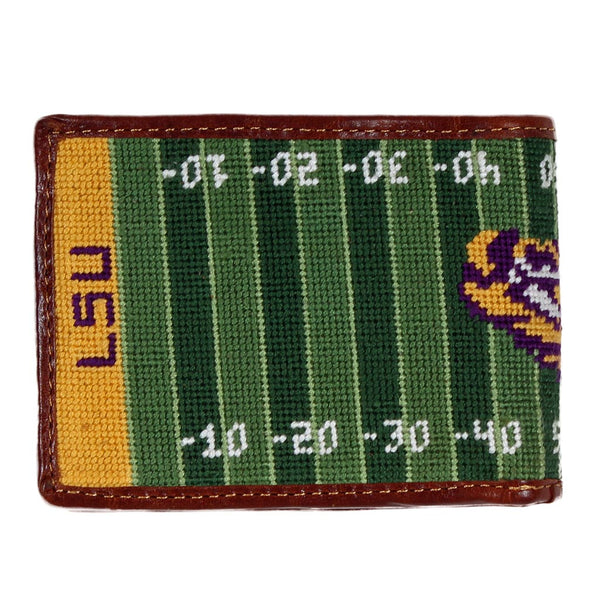 LSU Tiger Stadium Needlepoint Wallet by Smathers & Branson