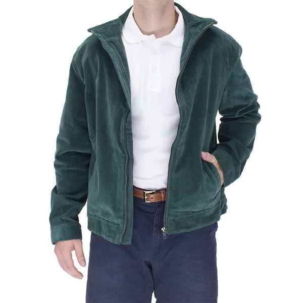 Mariner Jacket Hunter Green Corduroy by Castaway Clothing  - 1