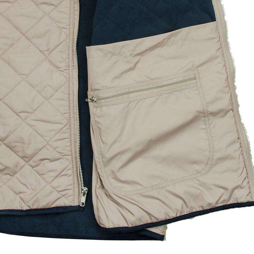Marshall Quilted Vest in Knob Gray by Southern Marsh  - 3