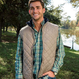 Marshall Quilted Vest in Knob Gray by Southern Marsh  - 2