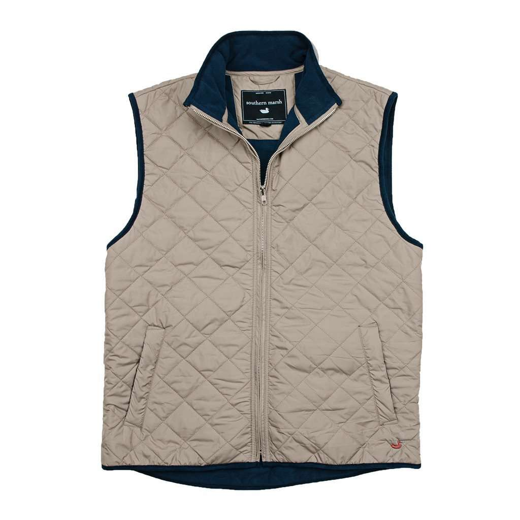 Marshall Quilted Vest in Knob Gray by Southern Marsh  - 1