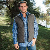 Marshall Quilted Vest in Midnight Gray by Southern Marsh  - 2