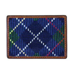McLeod Tartan Plaid Needlepoint Credit Card Wallet by Smathers & Branson