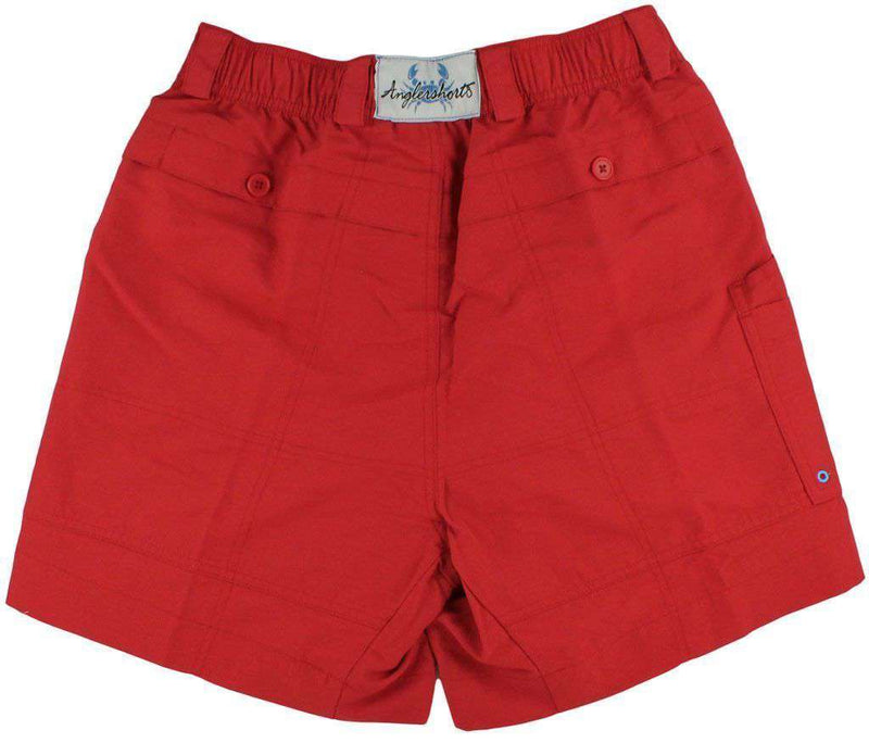Men's Activewear - Angler Shorts V2.0 In American Beauty Red By Coast - FINAL SALE