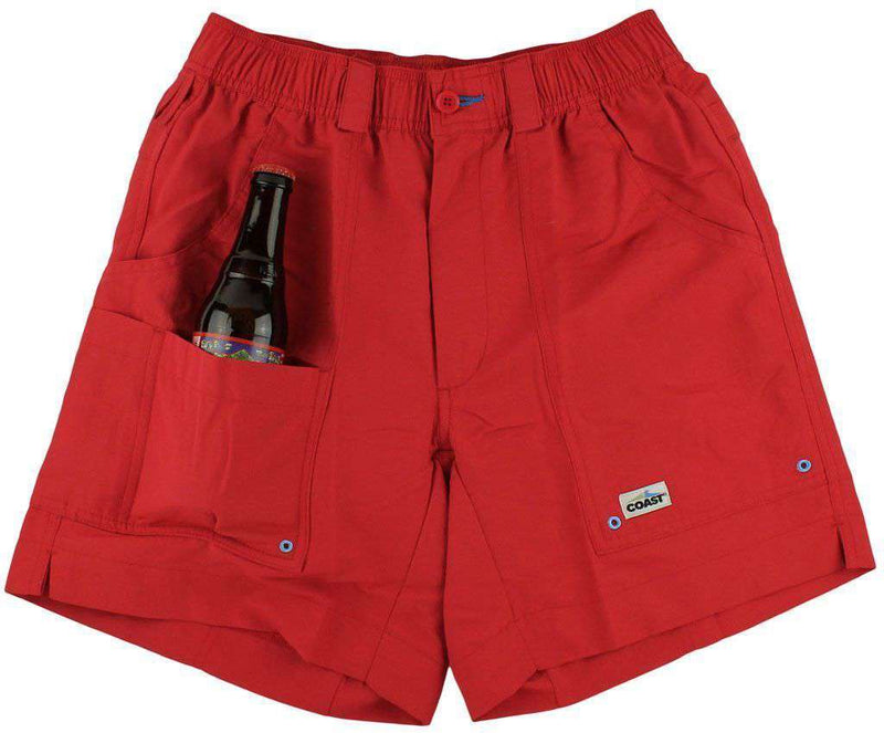 Angler Shorts v2.0 in American Beauty Red by Coast - FINAL SALE