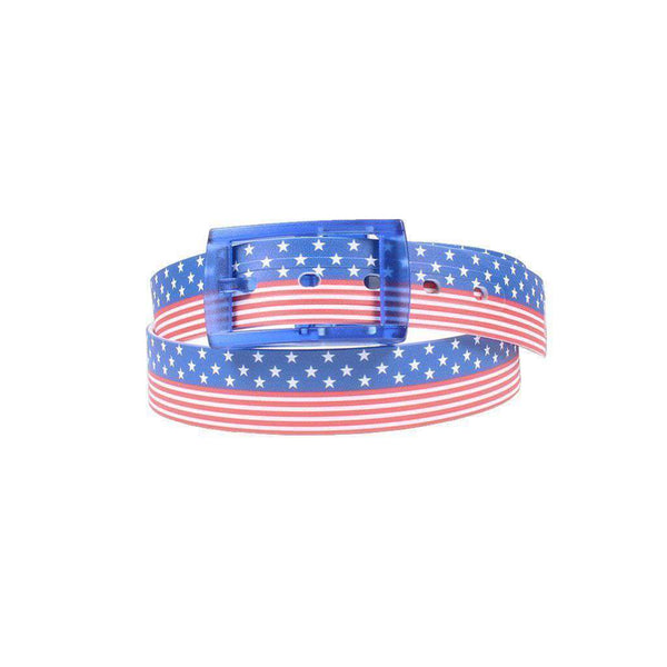 Americana Classic Belt with Blue Buckle by C4 Belts - FINAL SALE