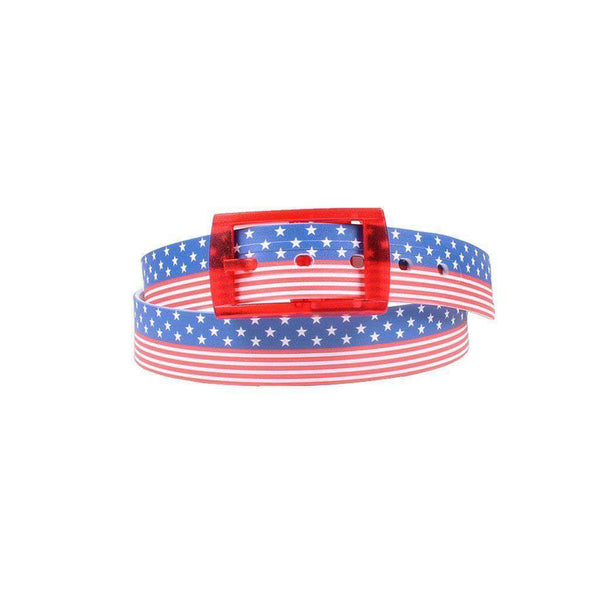 Americana Classic Belt with Red Buckle by C4 Belts - FINAL SALE