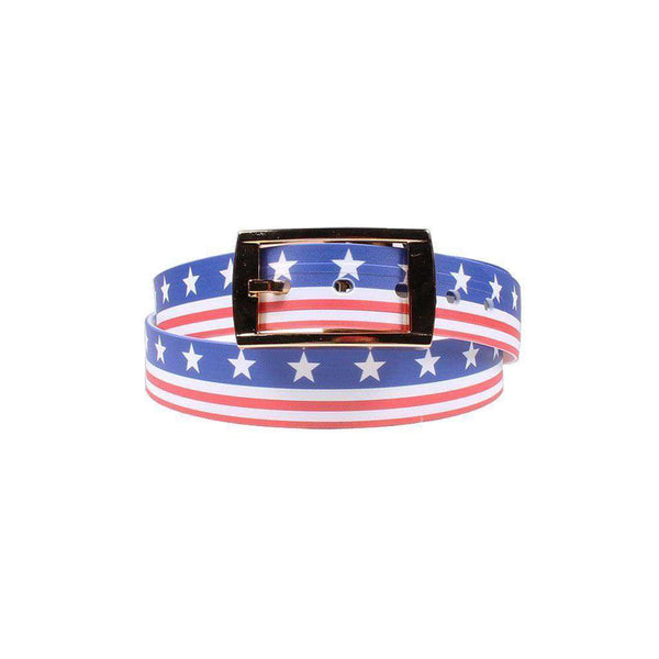 Men's Belts - Americana Throwback Belt With Gold Chrome Buckle By C4 Belts - FINAL SALE