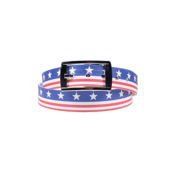 Men's Belts - Americana Throwback Belt With Silver Chrome Buckle By C4 Belts - FINAL SALE