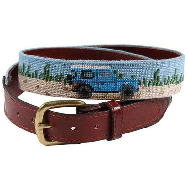 Beach Truck Needlepoint Belt by Smathers & Branson