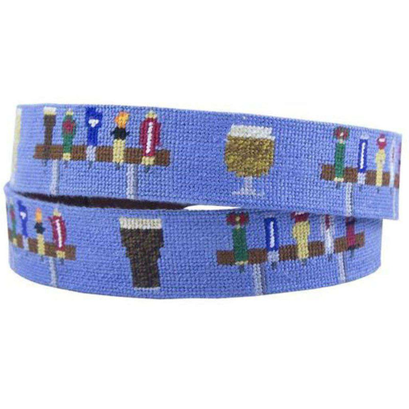 Beer Taps Needlepoint Belt by Smathers & Branson