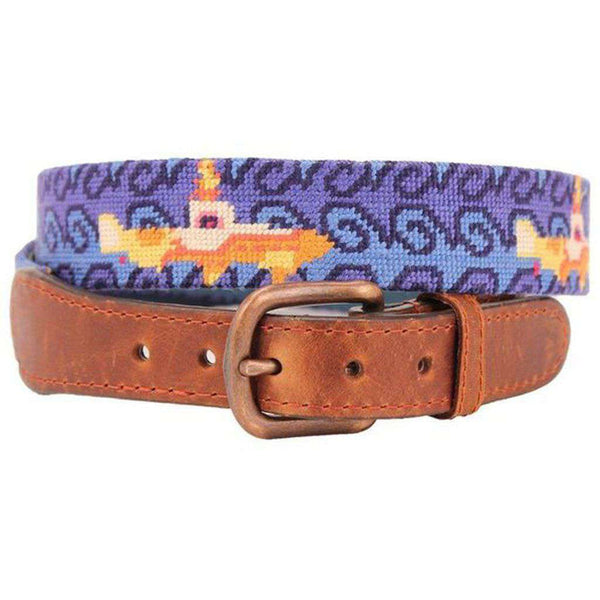 Beneath the Waves Needlepoint Belt by Smathers & Branson