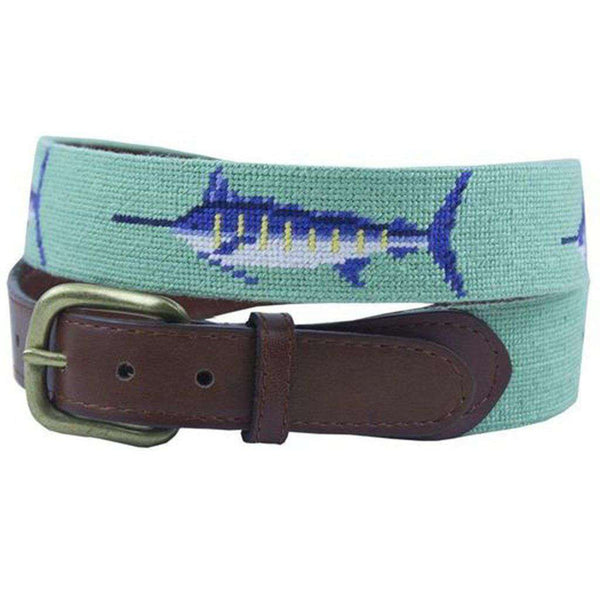 Bill Fish Needlepoint Belt by Smathers & Branson