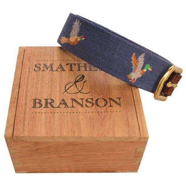 Bird Dog Needlepoint Belt by Smathers & Branson