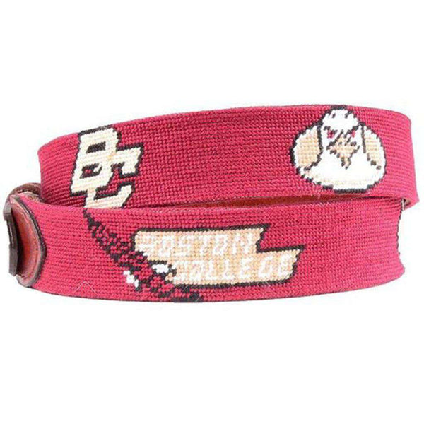 Boston College Needlepoint Belt by Smathers & Branson