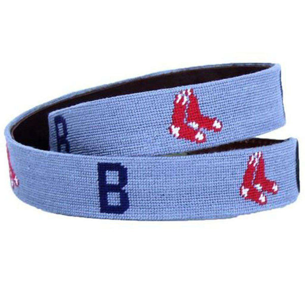 Boston Red Sox Cooperstown Needlepoint Belt by Smathers & Branson