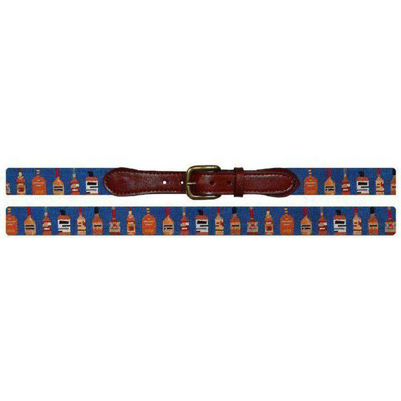 Bourbon Needlepoint Belt in Blue by Smathers & Branson