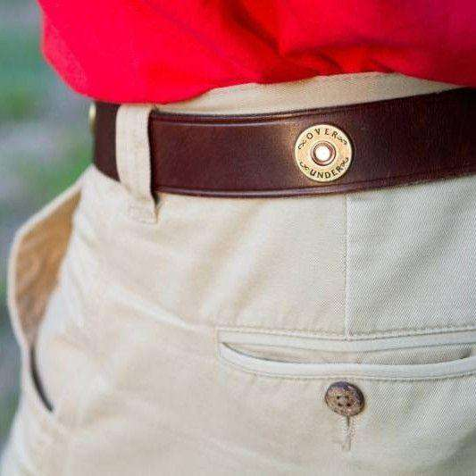 Cannon's Point Multi Shotgun Shell Belt in Brown Leather by Over Under Clothing