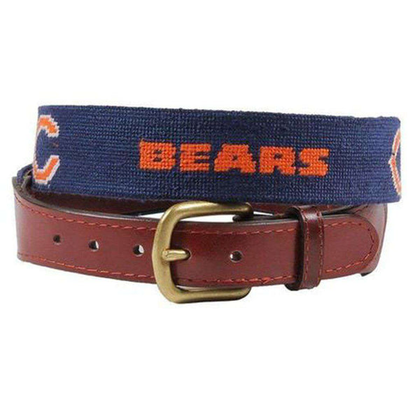 Chicago Bears Needlepoint Belt by Smathers & Branson