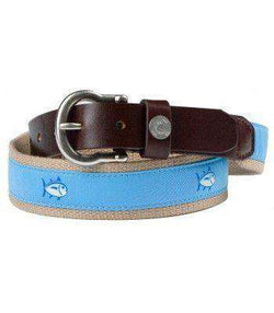Men's Belts - Classic Skipjack Canvas Belt In Bayside By Southern Tide