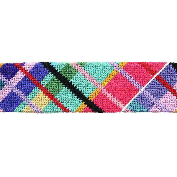 Country Club Prep Madras Plaid Needlepoint Belt by Smathers & Branson