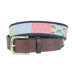 Men's Belts - Custom Charlottesville Canvas Belt By Vineyard Vines
