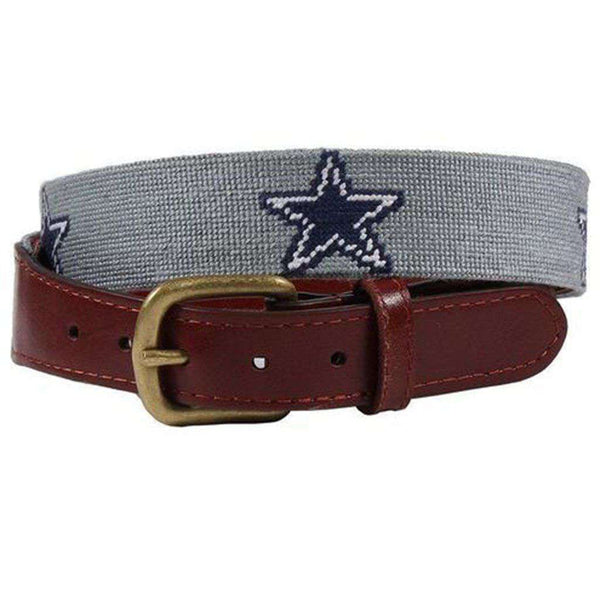Dallas Cowboys Needlepoint Belt by Smathers & Branson