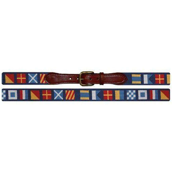 Dark n' Stormy Needlepoint Belt by Smathers & Branson