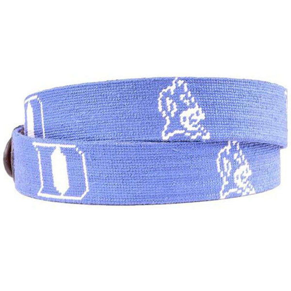 Duke University Needlepoint Belt by Smathers & Branson
