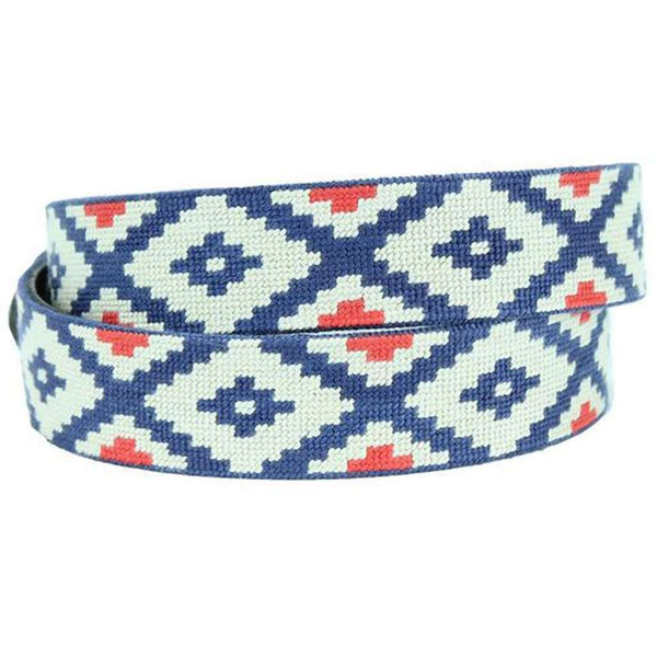 Gaucho Rojo Needlepoint Belt by Smathers & Branson