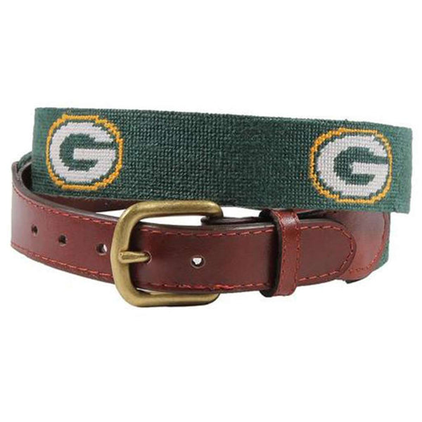 Green Bay Packers Needlepoint Belt by Smathers & Branson