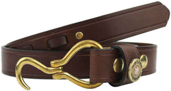 Men's Belts - Hoof Pick Belt In Medium Brown By Over Under Clothing
