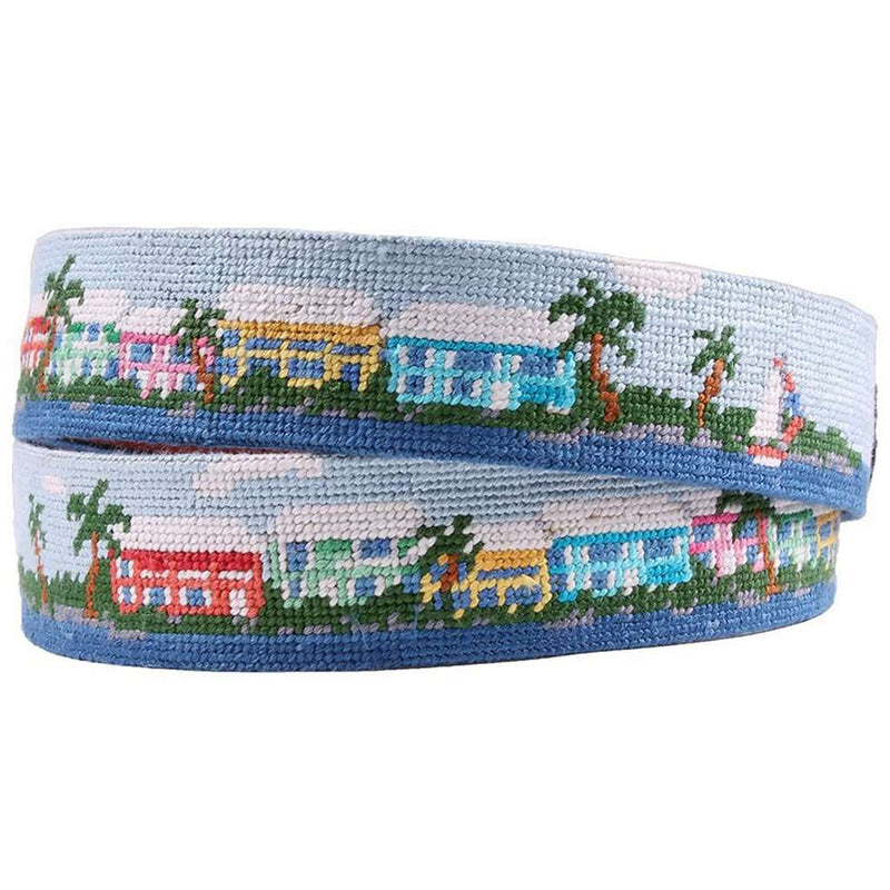 Island Time Needlepoint Belt by Smathers & Branson