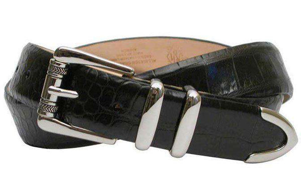 5115e7186ed Men s Belts - Justin Alligator Grain Leather Belt In Black By Martin Dingman