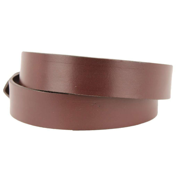 Leather Belt in Dark Brown with Brass Anchor Buckle by Country Club Prep
