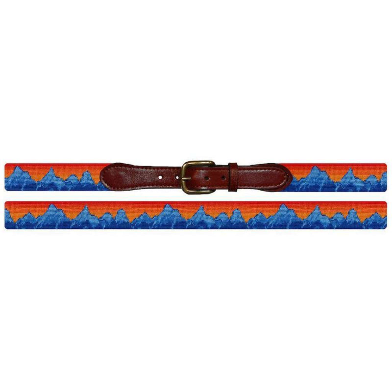 Mountain Sunset Needlepoint Belt in Multi by Smathers & Branson