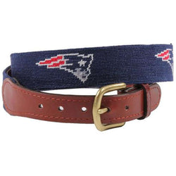 New England Patriots Needlepoint Belt by Smathers & Branson