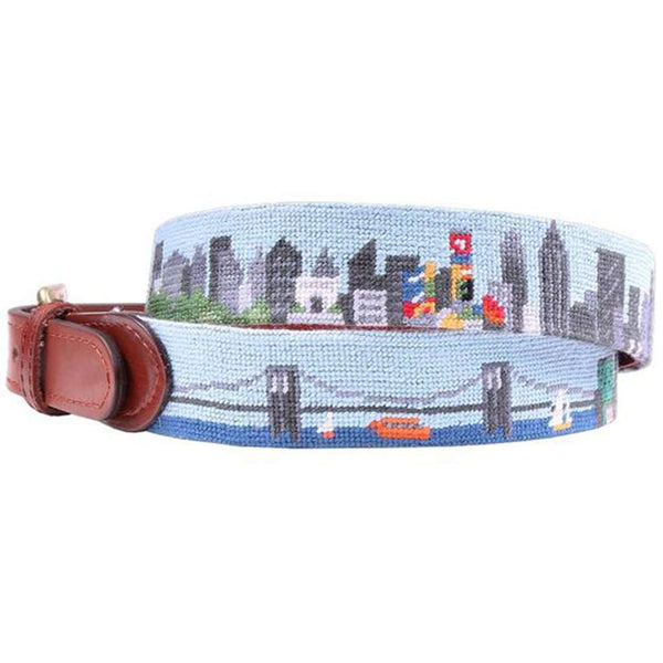 New York Skyline Needlepoint Belt by Smathers & Branson