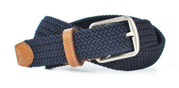 87150364ed6 Men s Belts - Newport Woven Belt In Navy By Martin Dingman